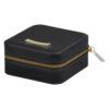 Shrieking Violet – Poppy Silver Black Woven Round Charm Bracelet in Gift Box