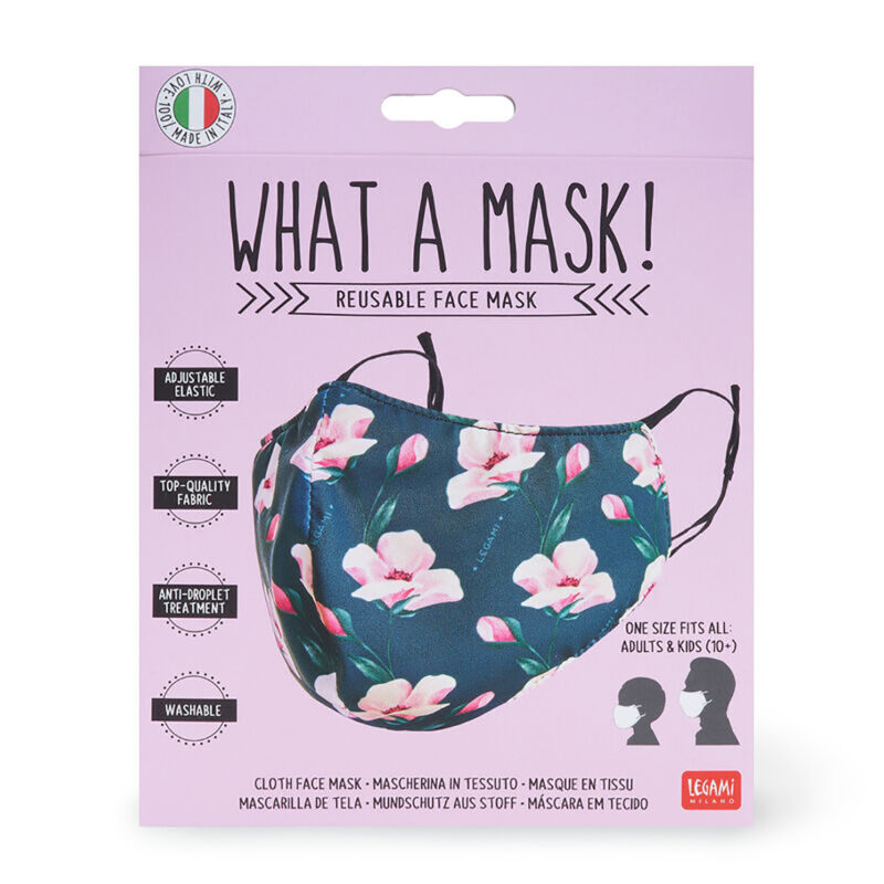"Legami – What a Mask! ""Flowers"" Reusable Face Mask & Flower Power Hand Gel"