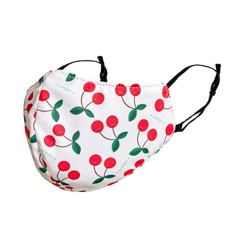 "Legami – What a Mask! ""Cherry"" Reusable Face Mask & Flower Power Hand Gel"