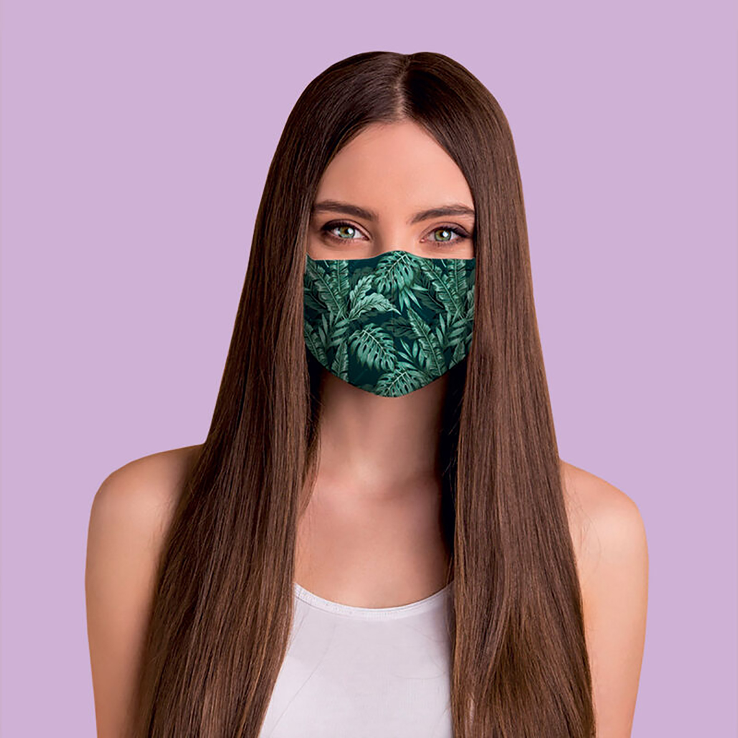 "Legami – What a Mask! ""Jungle"" Reusable Face Mask & Ocean Breeze Hand Gel"
