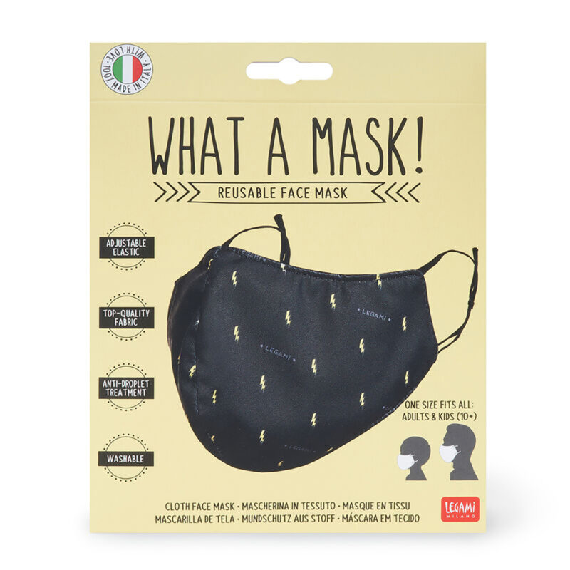 "Legami – What a Mask! ""Flash"" Reusable Face Mask & Ocean Breeze Hand Gel"