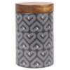 Beau & Elliot – Vibe Grey Slate Medium Ceramic Canister with Wooden Lid