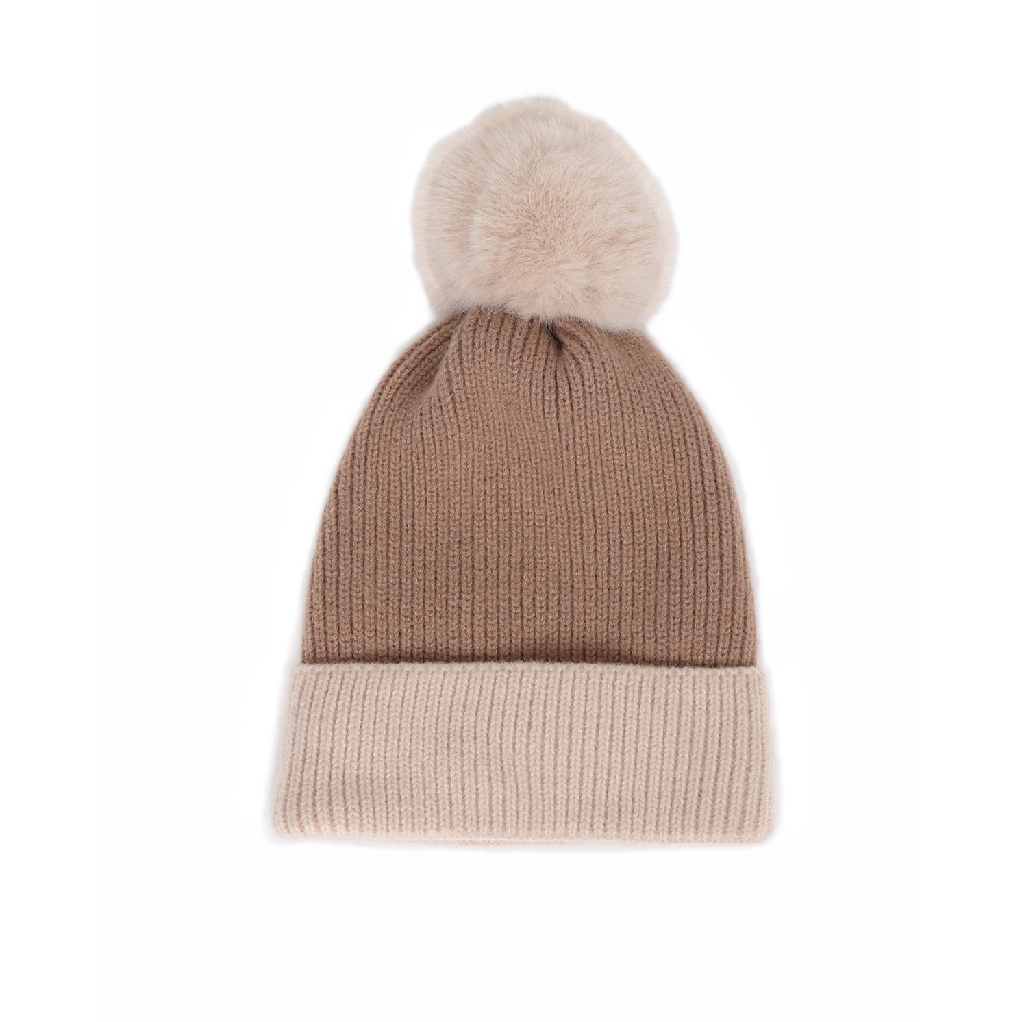 Powder – Bonnie Stone/Cream Pom Pom Hat with Powder Presentation Gift Bag