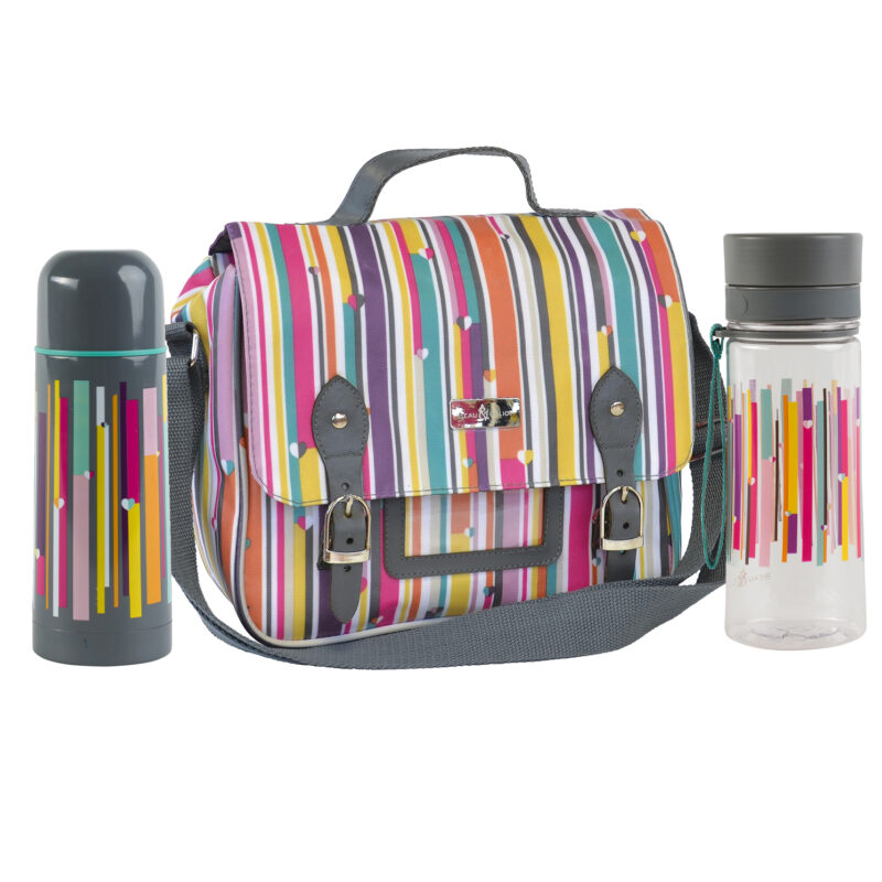 Beau & Elliot – Linear Satchel with matching Hydration Bottle and Vacuum Flask