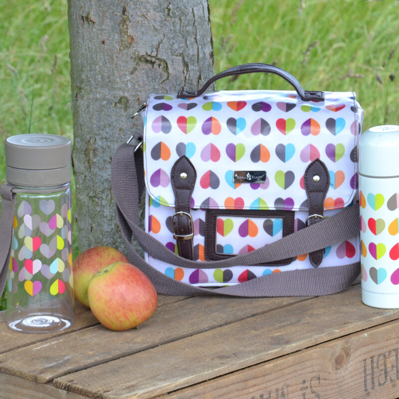 Beau & Elliot – Confetti Satchel with matching Hydration Bottle and Vacuum Flask