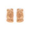 Powder – Kid's Fluffy Bunny Mittens in Slate with Powder Presentation Gift Box