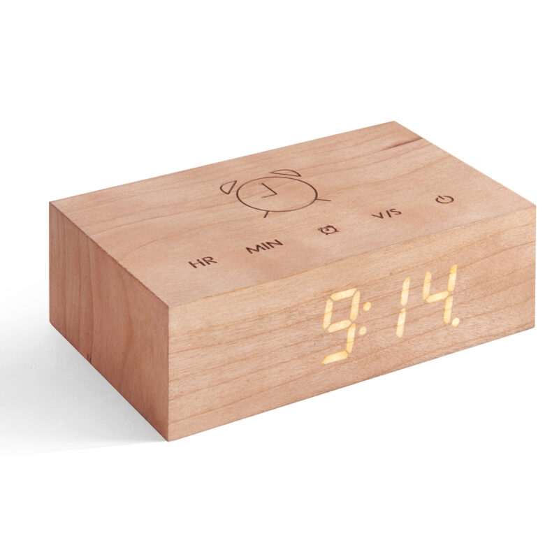 Gingko – Flip Click Clock in Gift Box – Cherry