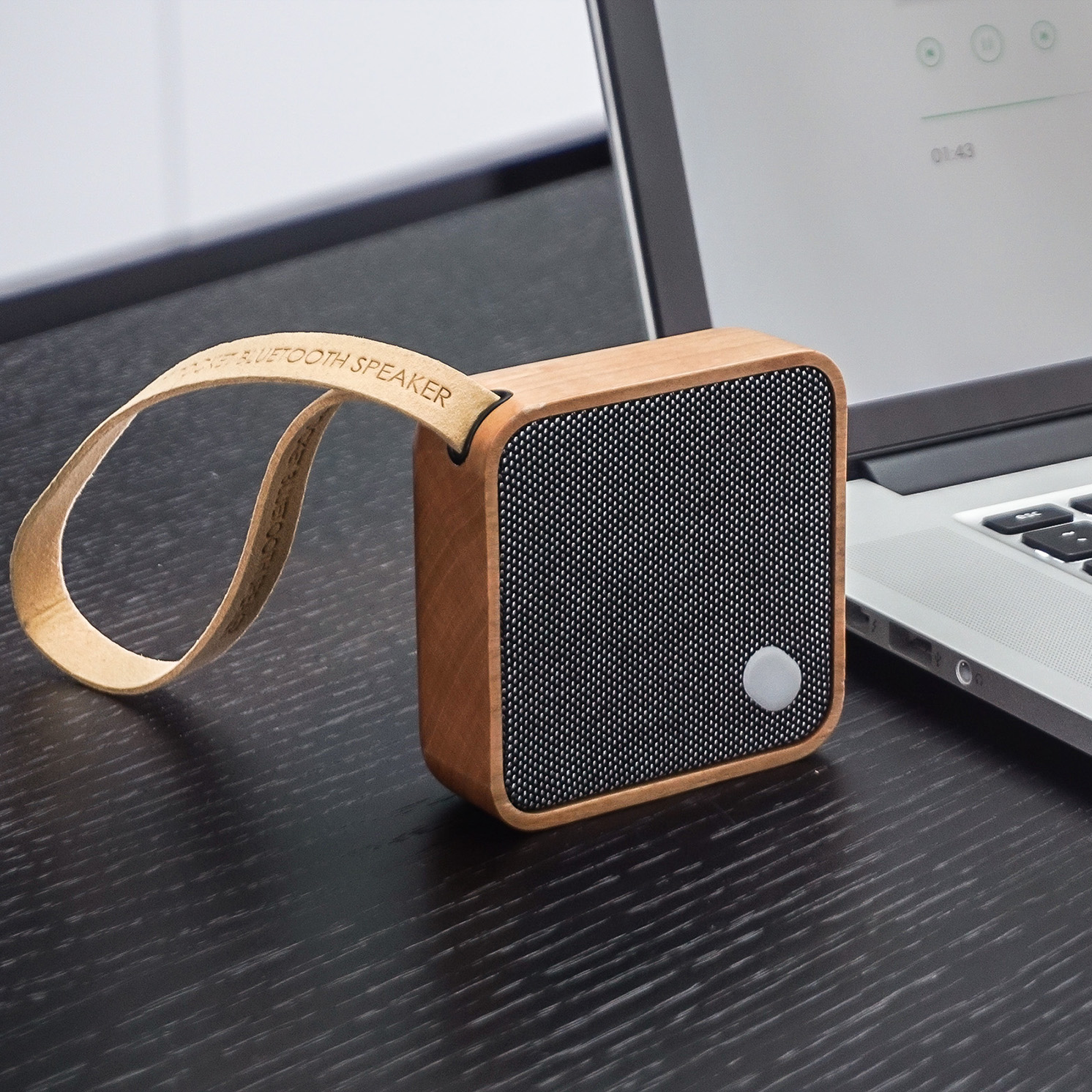 Gingko – Mi Square Pocket Bluetooth Speaker in Gift Box – Cherry