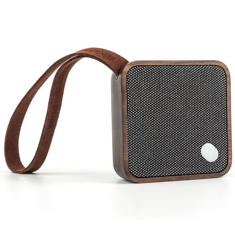 Gingko – Mi Square Pocket Bluetooth Speaker in Gift Box – Walnut