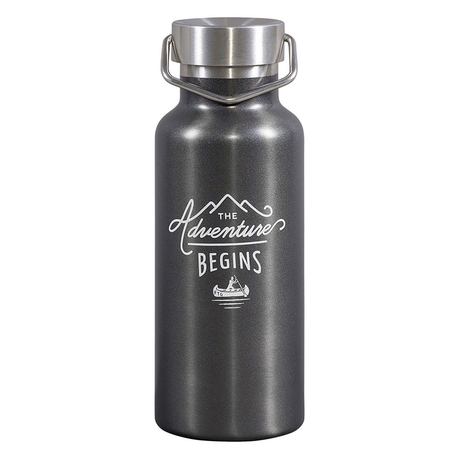 Gentlemen's Hardware – Gunmetal Stainless Steel Water Bottle