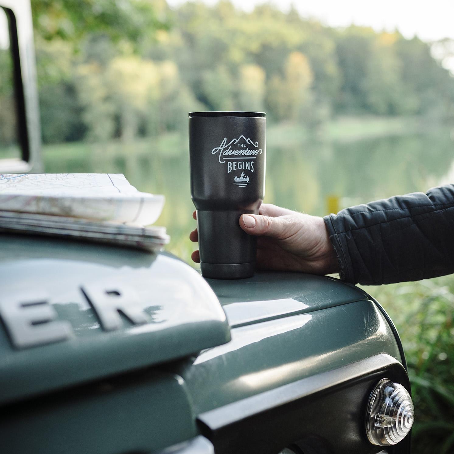 Gentlemen's Hardware – Gunmetal Stainless Steel Travel Coffee Press