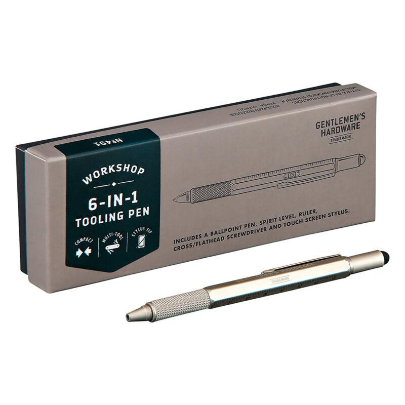 Gentlemen's Hardware – 6-in-1 Tooling Pen in Presentation Gift Box