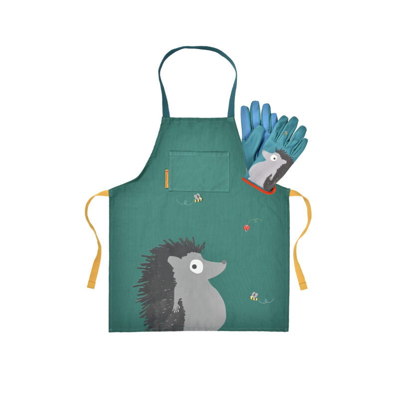 Burgon & Ball – National Trust Children's Hedgehog Apron with Matching Gloves