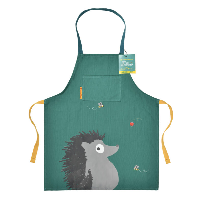 Burgon & Ball – National Trust Children's Hedgehog Apron with Matching Gloves
