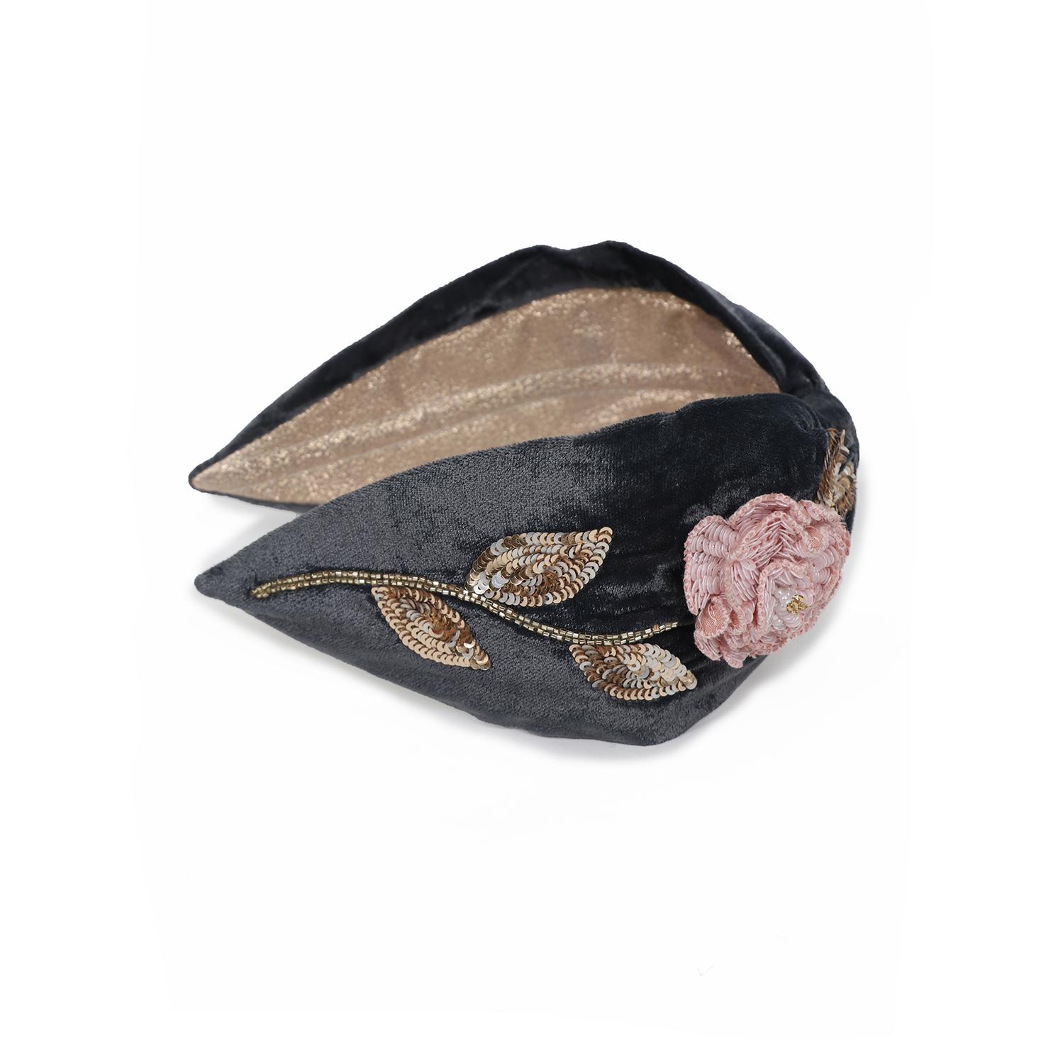 Powder – Pink Rose Headband with Powder Presentation Gift Bag