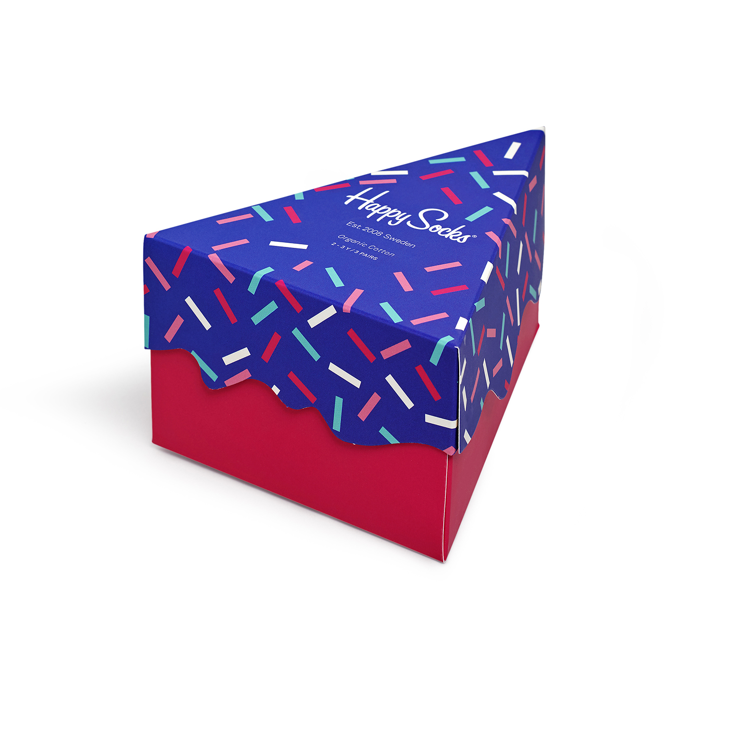 Happy Socks – Kids Happy Birthday 3 Pack Sock Set in Cake Shaped Gift Box