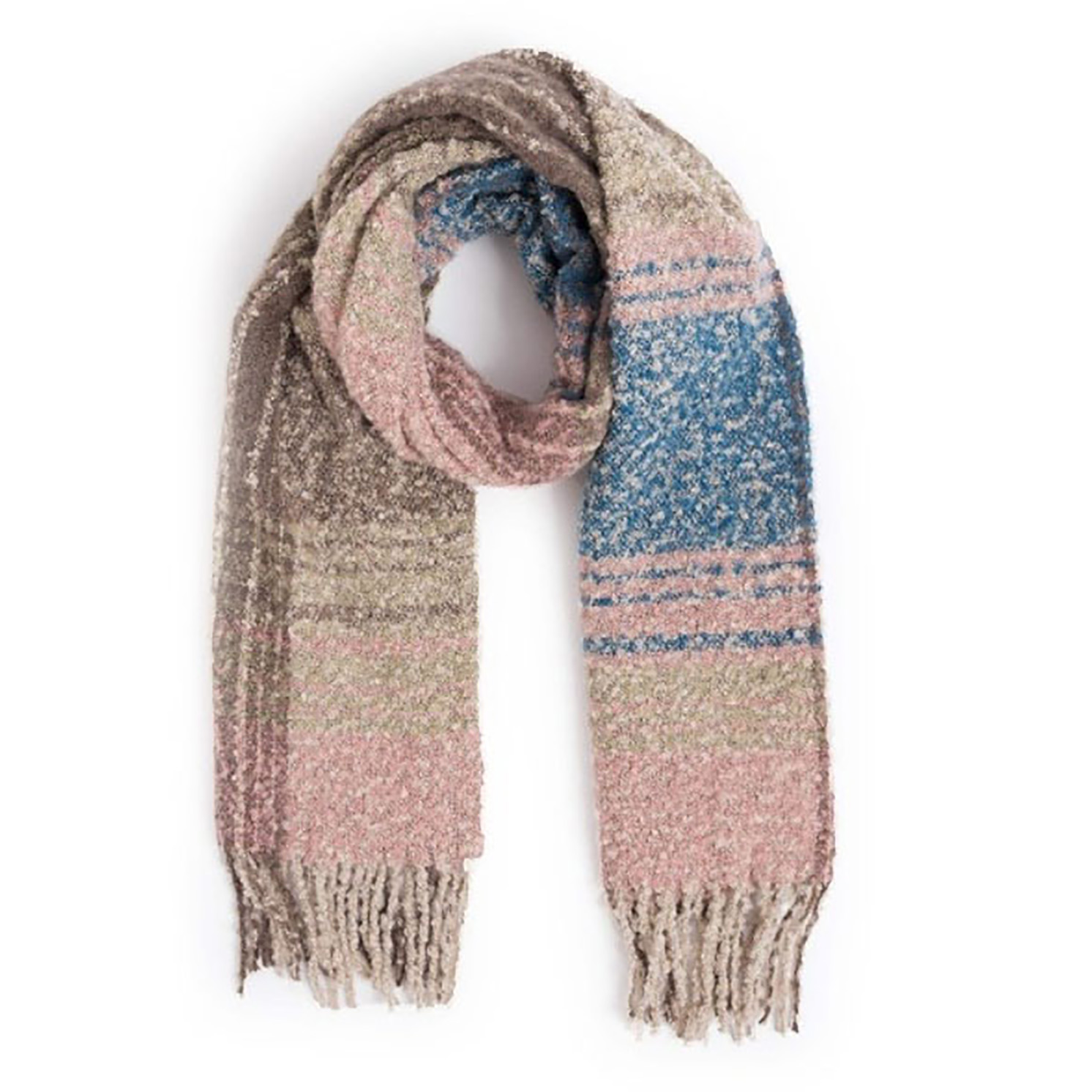 Powder – Pink Mix Maggie Scarf with Powder Presentation Gift Bag