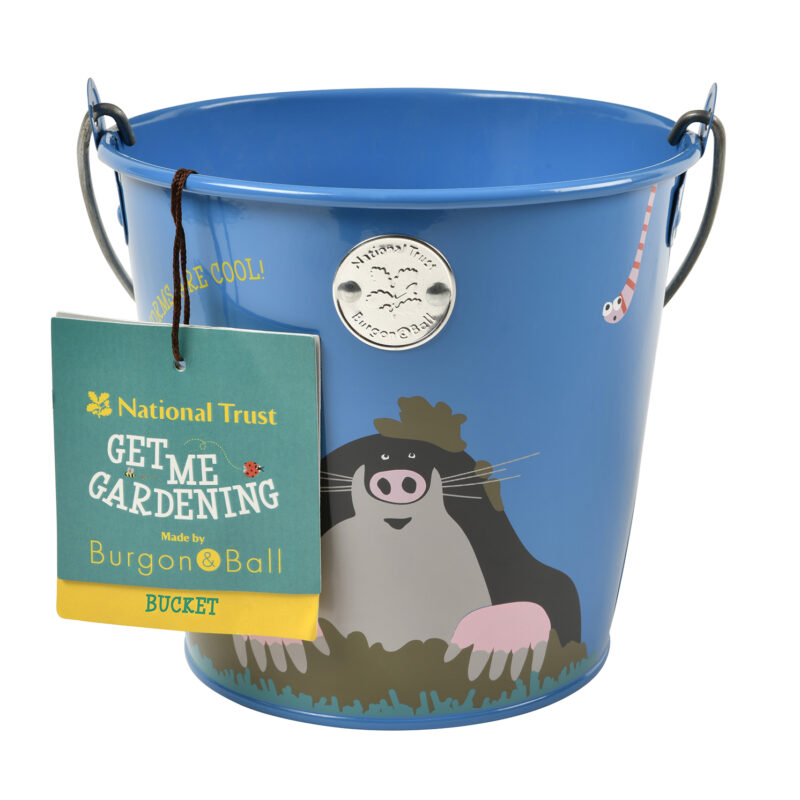 Burgon & Ball – National Trust Children's Mole Metal Bucket with Frog Gloves