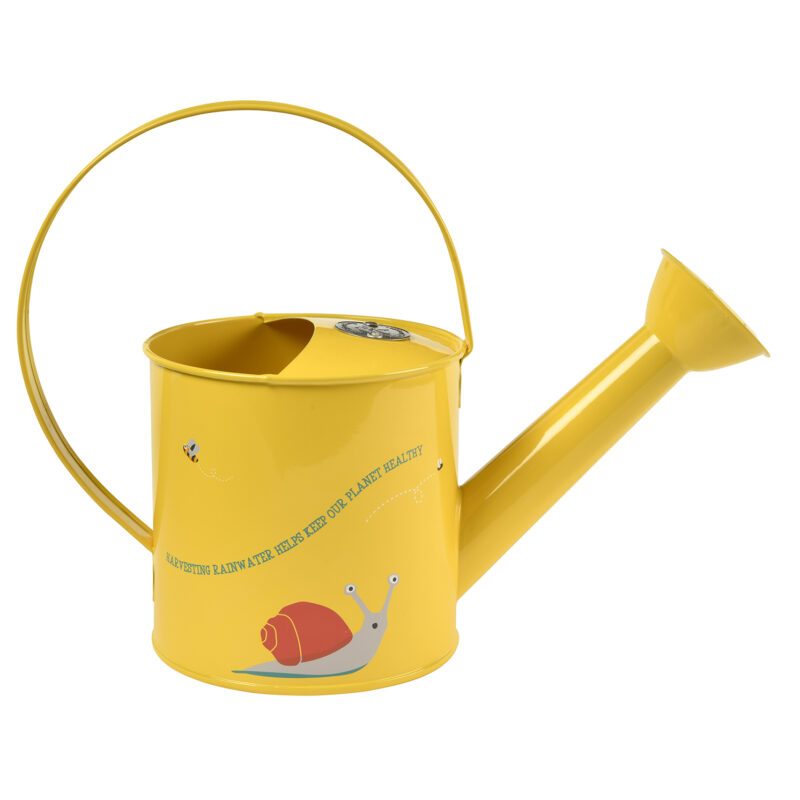 Burgon & Ball – National Trust Children's Yellow Frog Design Metal Watering Can