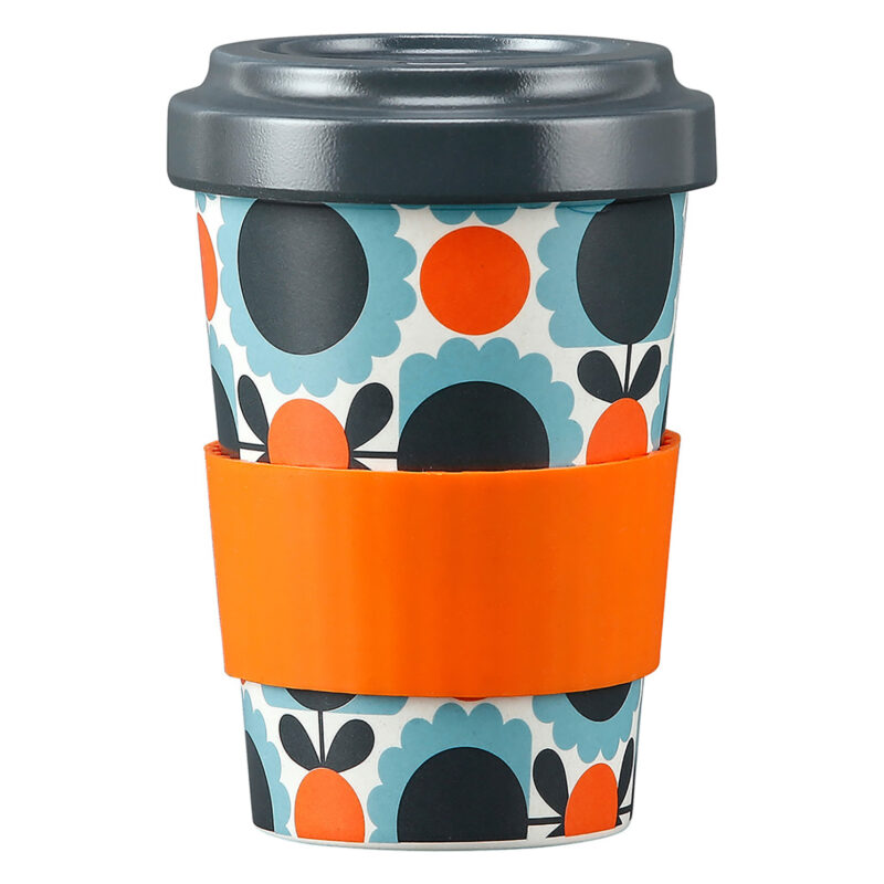 Orla Kiely – Scallop Flower Sky Bamboo Travel Cup/Tumbler