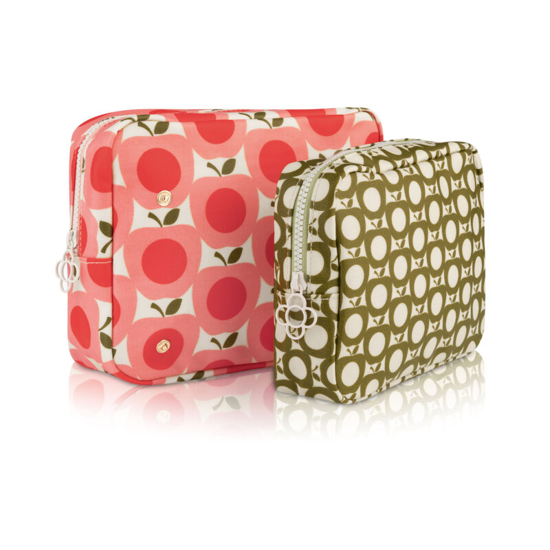 Orla Kiely – Apple Collection Double Toiletry/Wash Bag