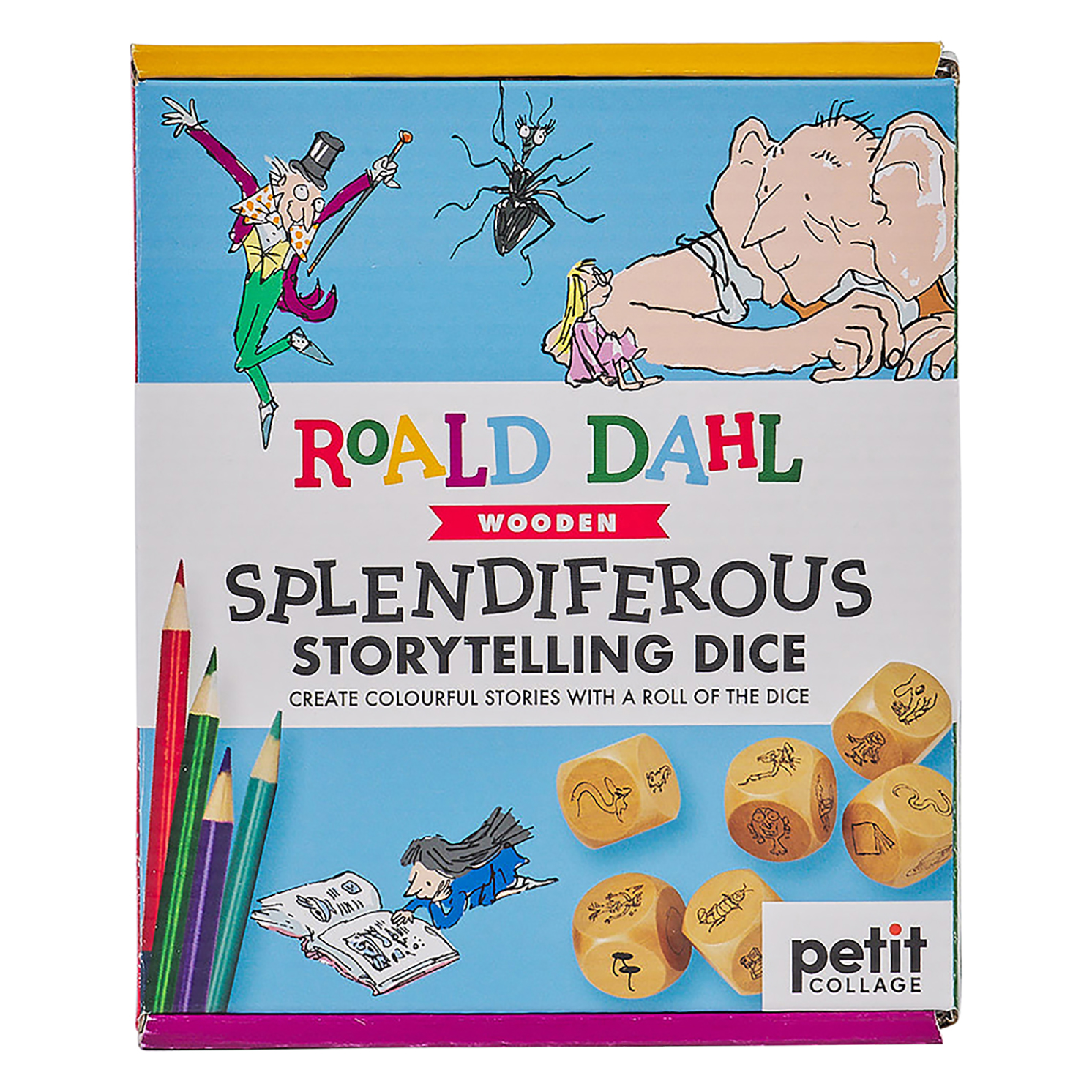 Petit Collage – Roald Dahl Splendiferous Storytelling Dice in Gift Box