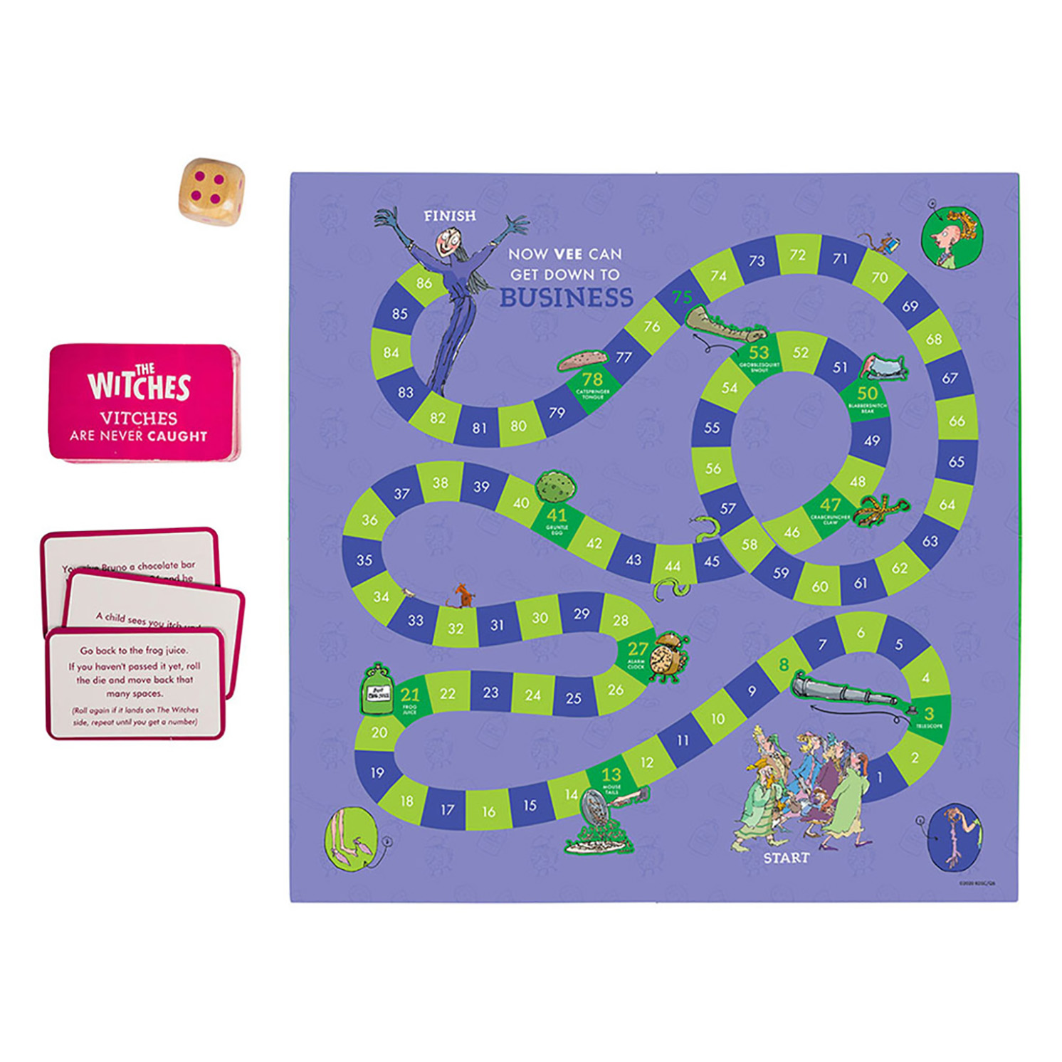Petit Collage – Roald Dahl Miserrrable Formula 86 Witches Board Game in Box