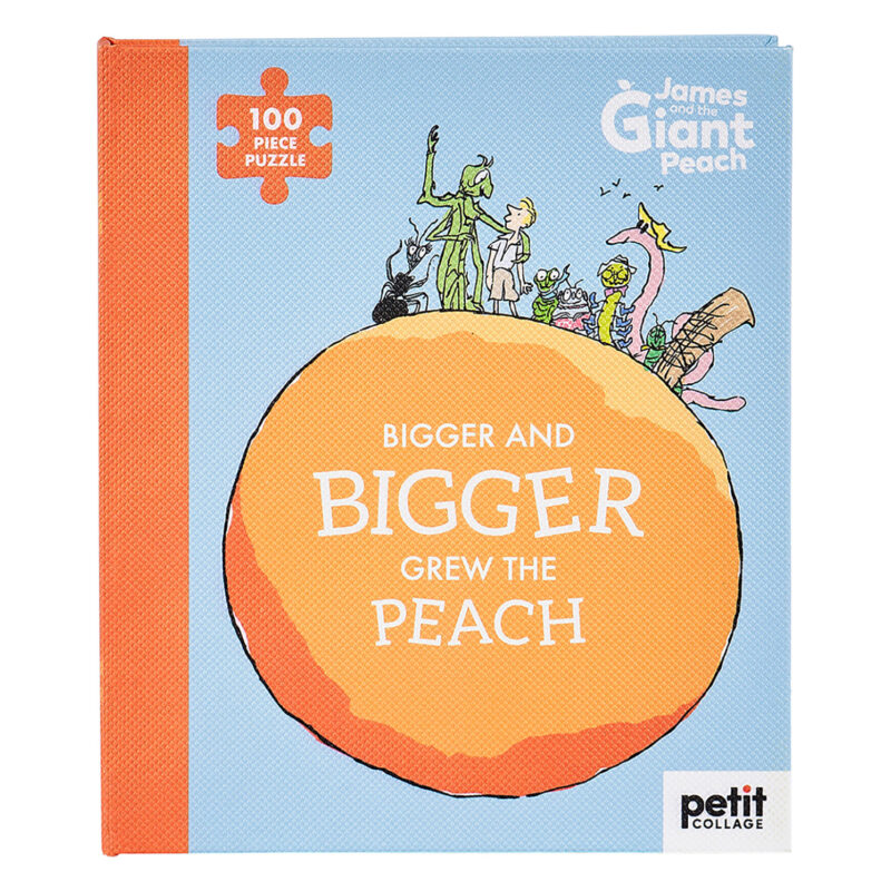 Petit Collage – Roald Dahl James & The Giant Peach 100-Piece Book Puzzle in Box