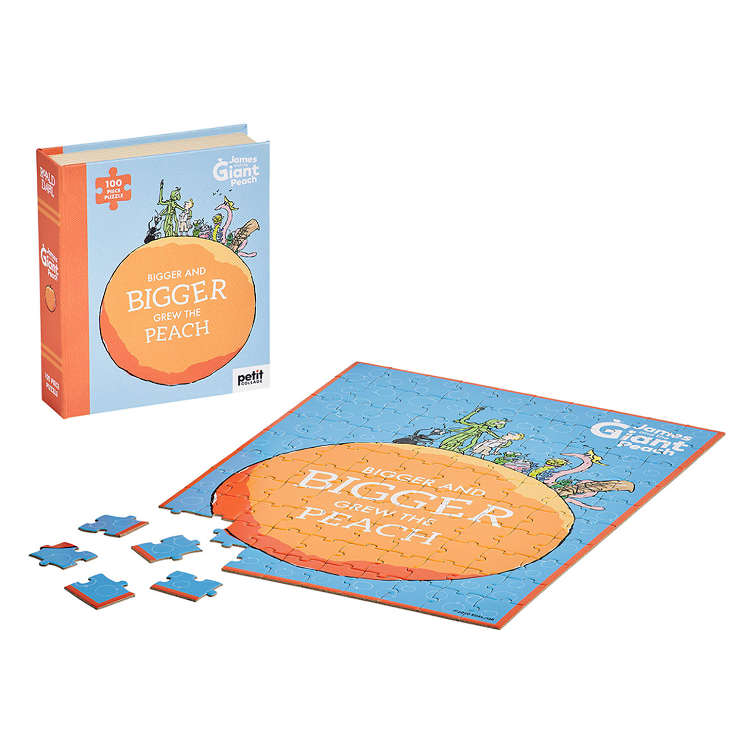 Petit Collage – Roald Dahl James & The Giant Peach 100-Piece Book Puzzle in Box