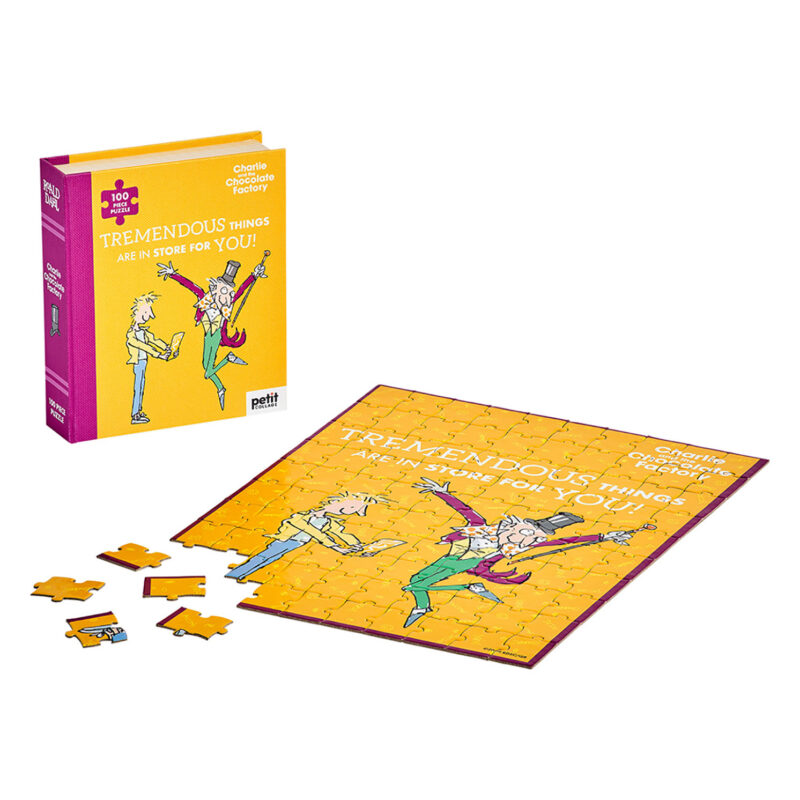 Petit Collage – Roald Dahl Charlie & The Chocolate Factory100-Piece Book Puzzle
