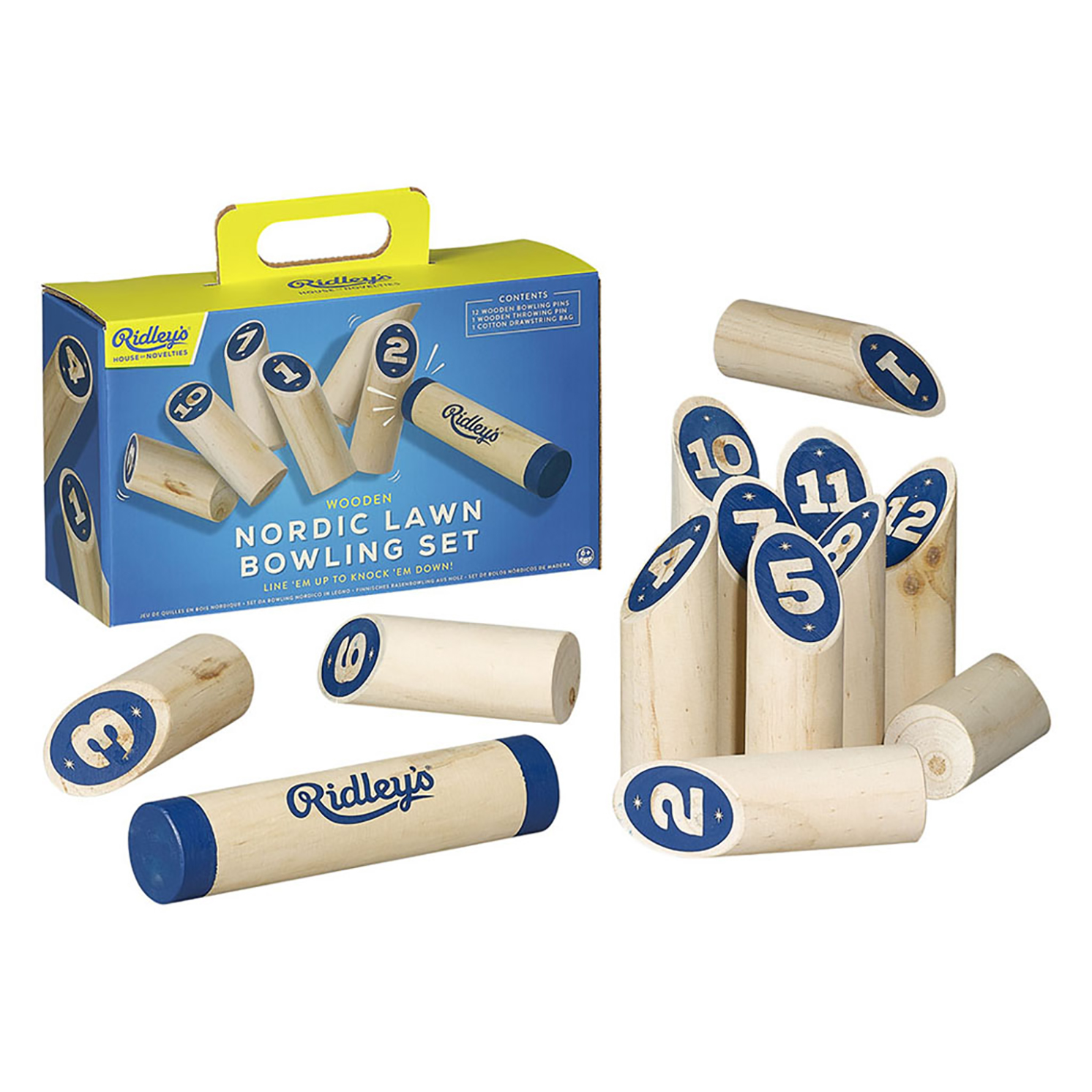 Ridley's Games – Wooden Nordic Lawn Bowling Set in Gift Box