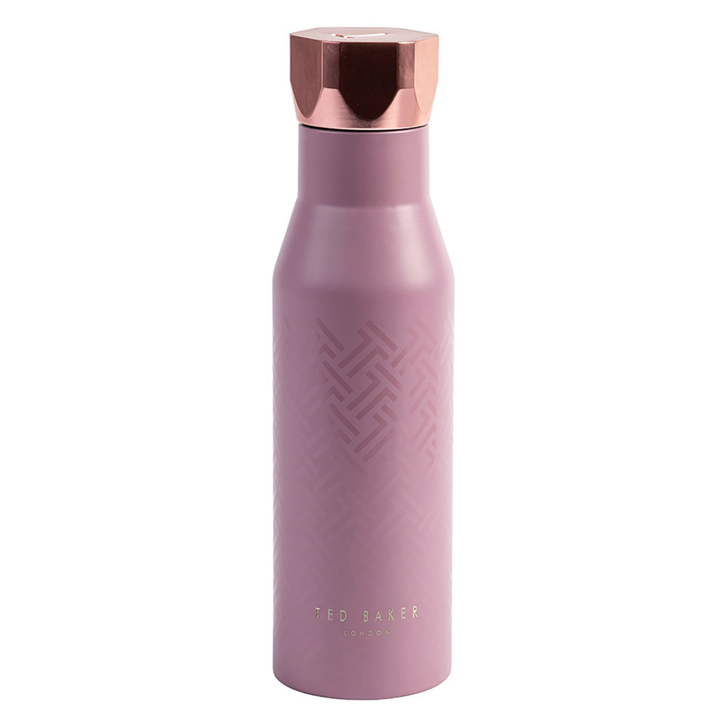 Ted Baker – Dusky Pink Stainless Steel Hexagonal Lid Insulated Water Bottle – 425ml