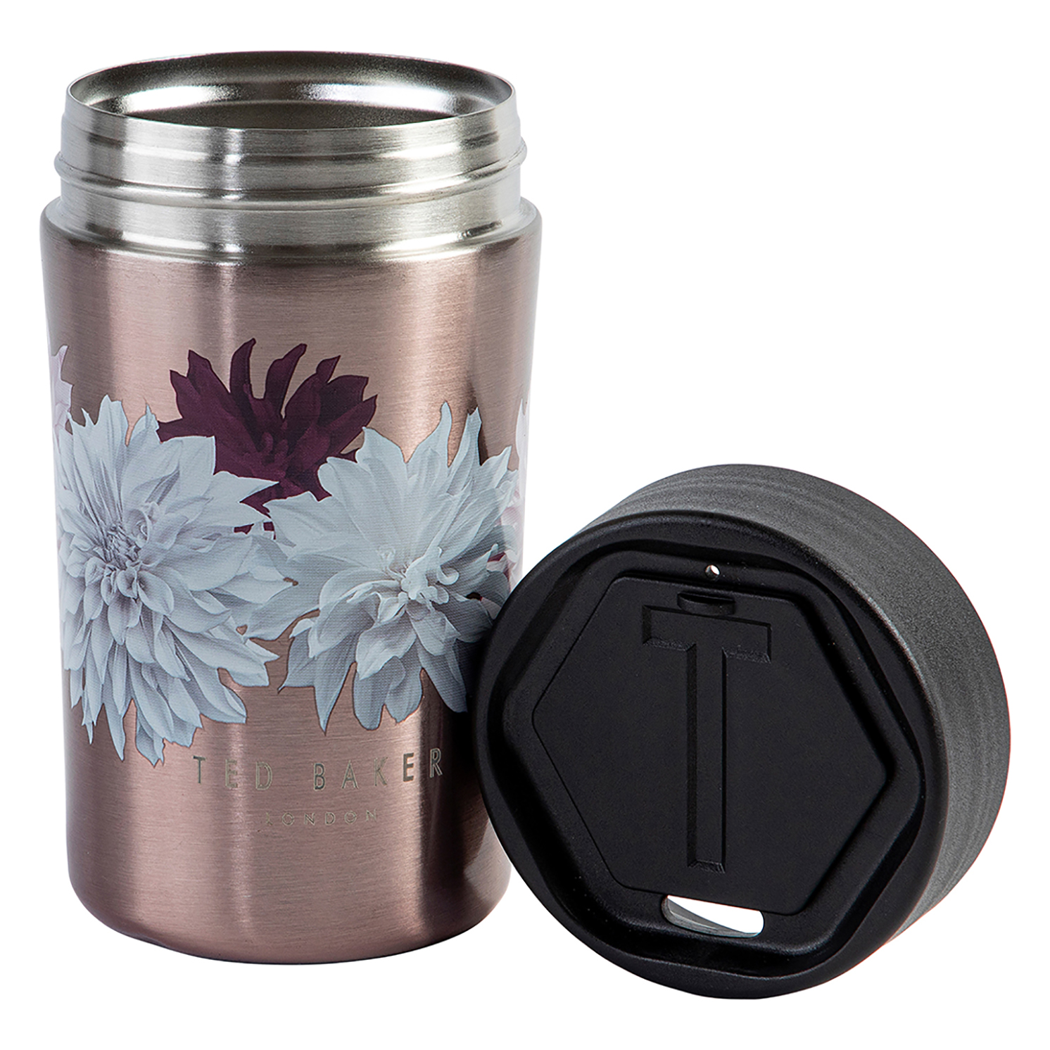 Ted Baker – Rose Gold Clove Stainless Steel Insulated Travel Cup/Mug