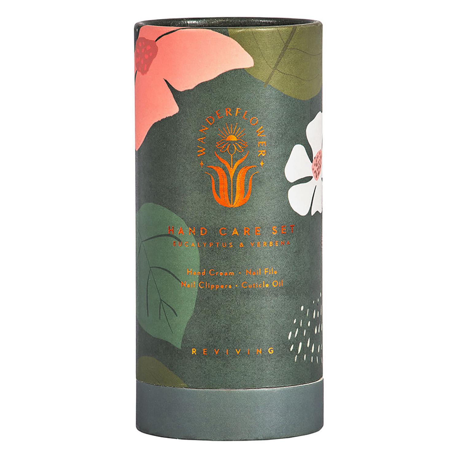 Wanderflower – Eucalyptus & Verbena Travel Hand Care Set in Presentation Tube