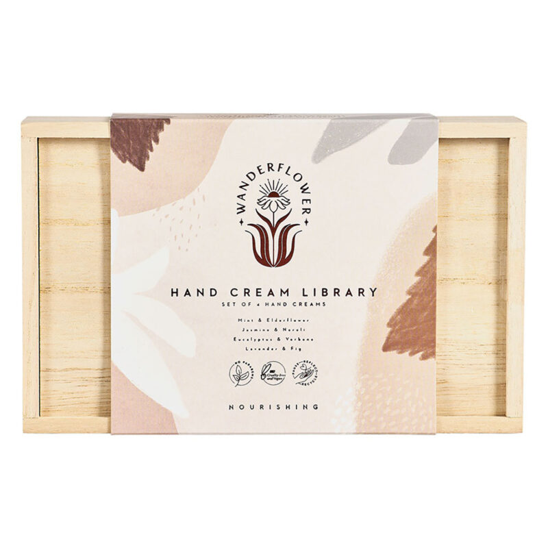 Wanderflower – Hand Cream Library in Wooden Gift Box