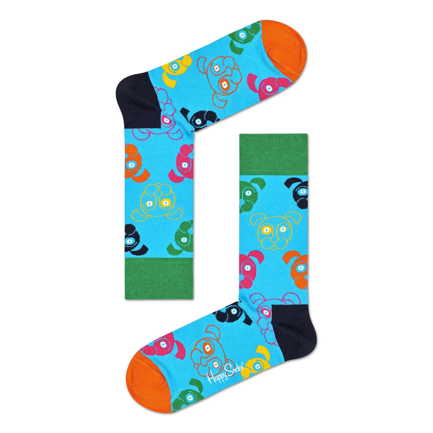 Happy Socks – Set of 3 Pairs of Mixed Dog Socks in Presentation Gift Box