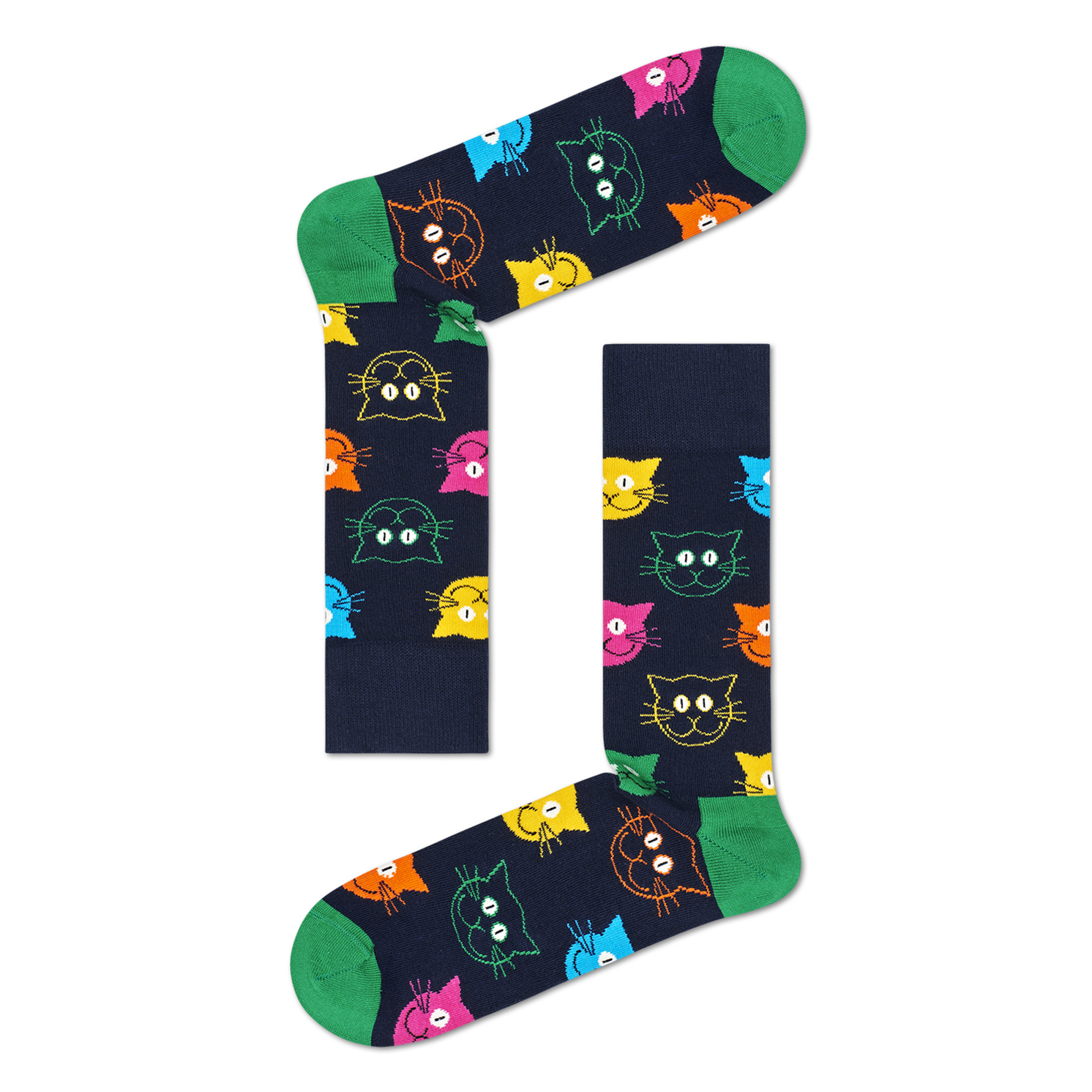 Happy Socks – Set of 3 Pairs of Mixed Cat Socks in Presentation Gift Box