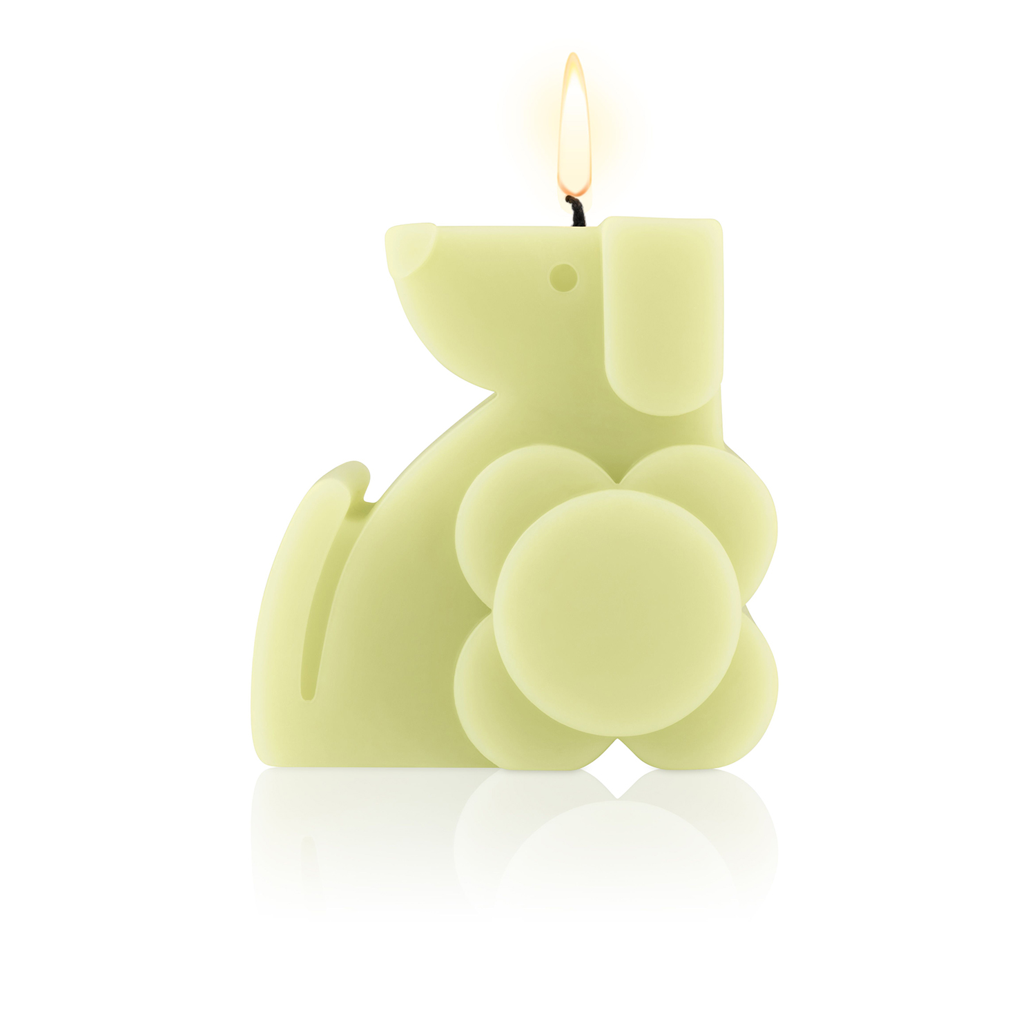 Orla Kiely – Green Fig & Cedarwood Dog Moulded Scented Candle in Presentation Gift Box