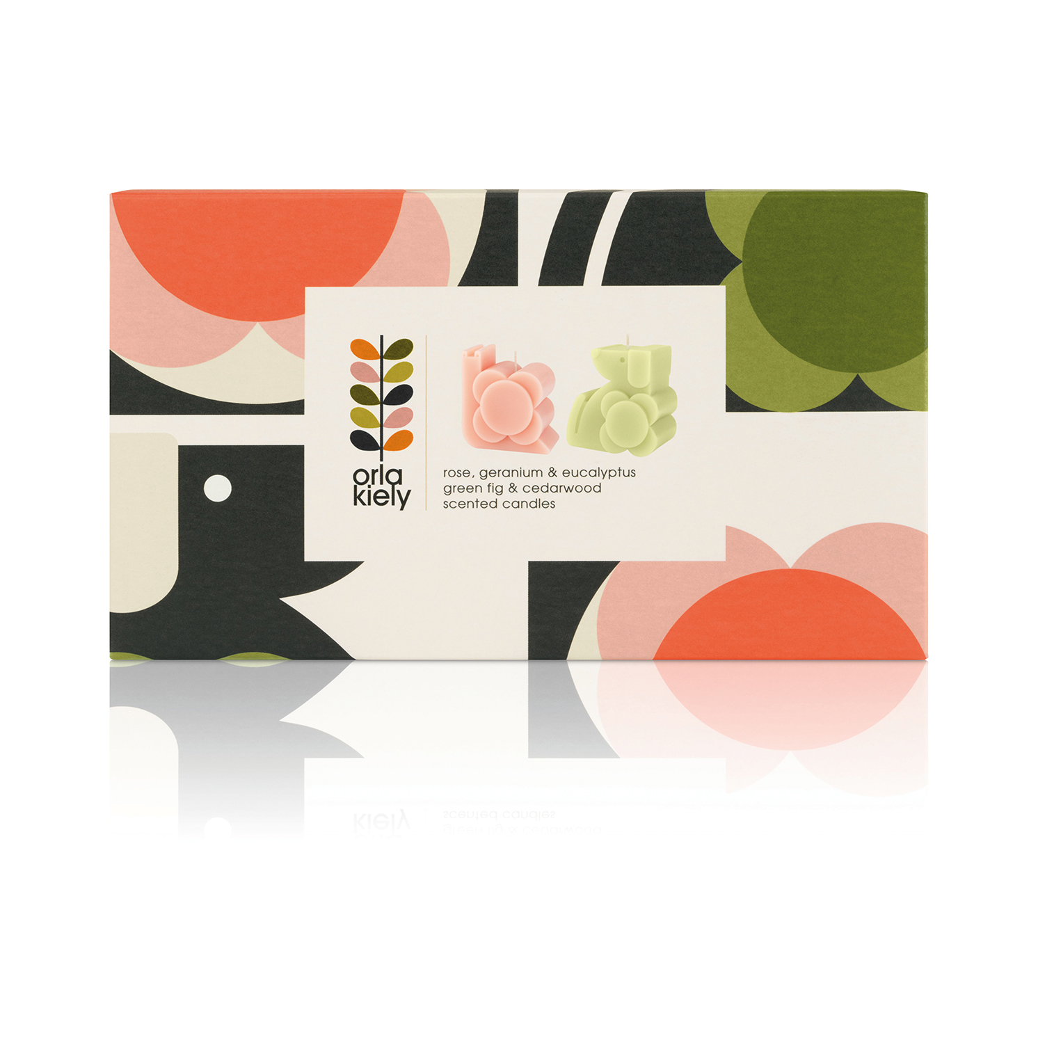 Orla Kiely – Dog & Snail Moulded Scented Candle Gift Set in Presentation Box