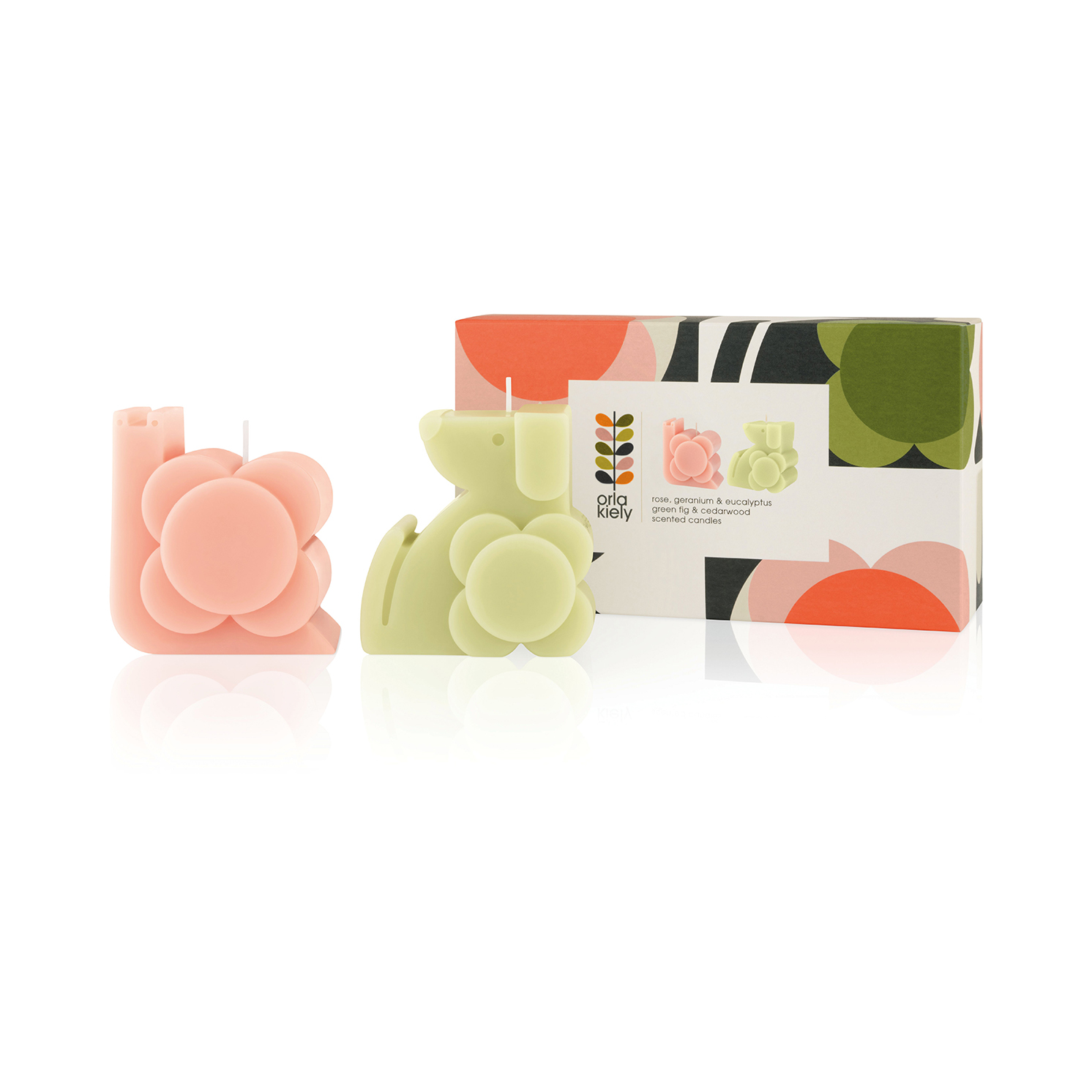 Orla Kiely - Dog & Snail Moulded Scented Candle Gift Set in Presentation Box