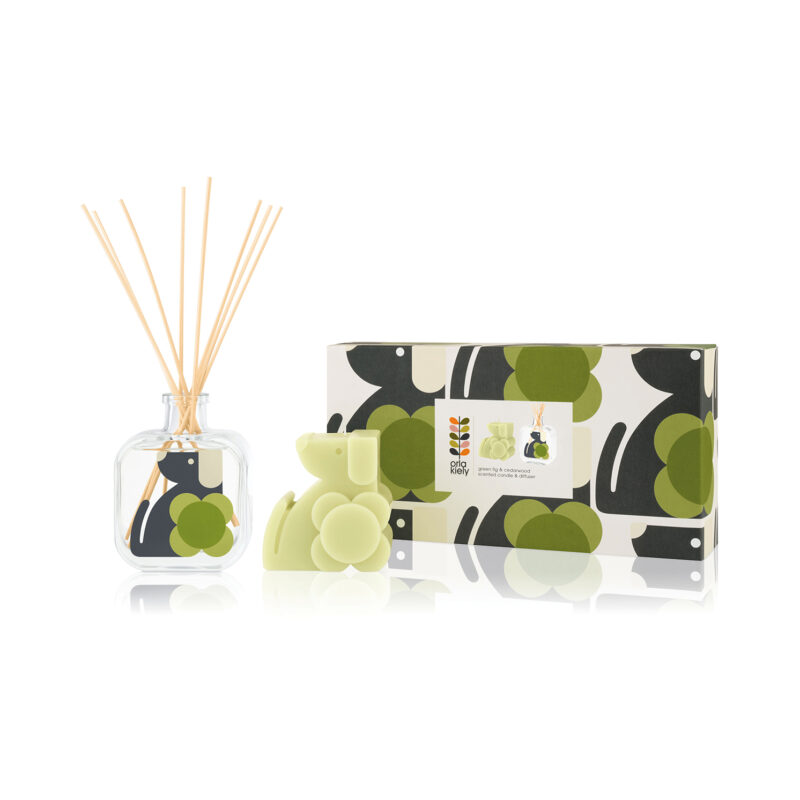 Orla Kiely - Moulded Dog Scented Candle & Diffuser Gift Set in Presentation Box