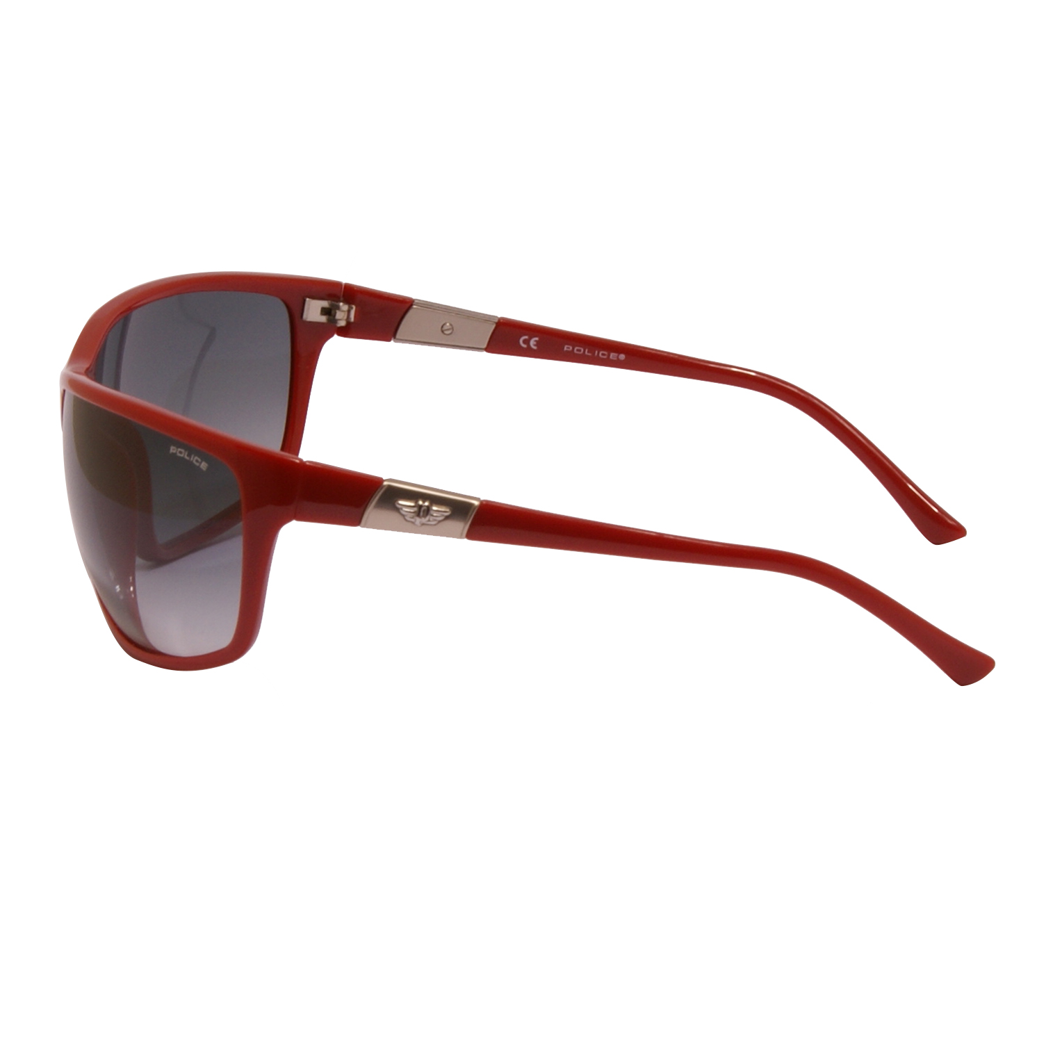 Police – Shiny Red Classic Style Sunglasses with Case and Box