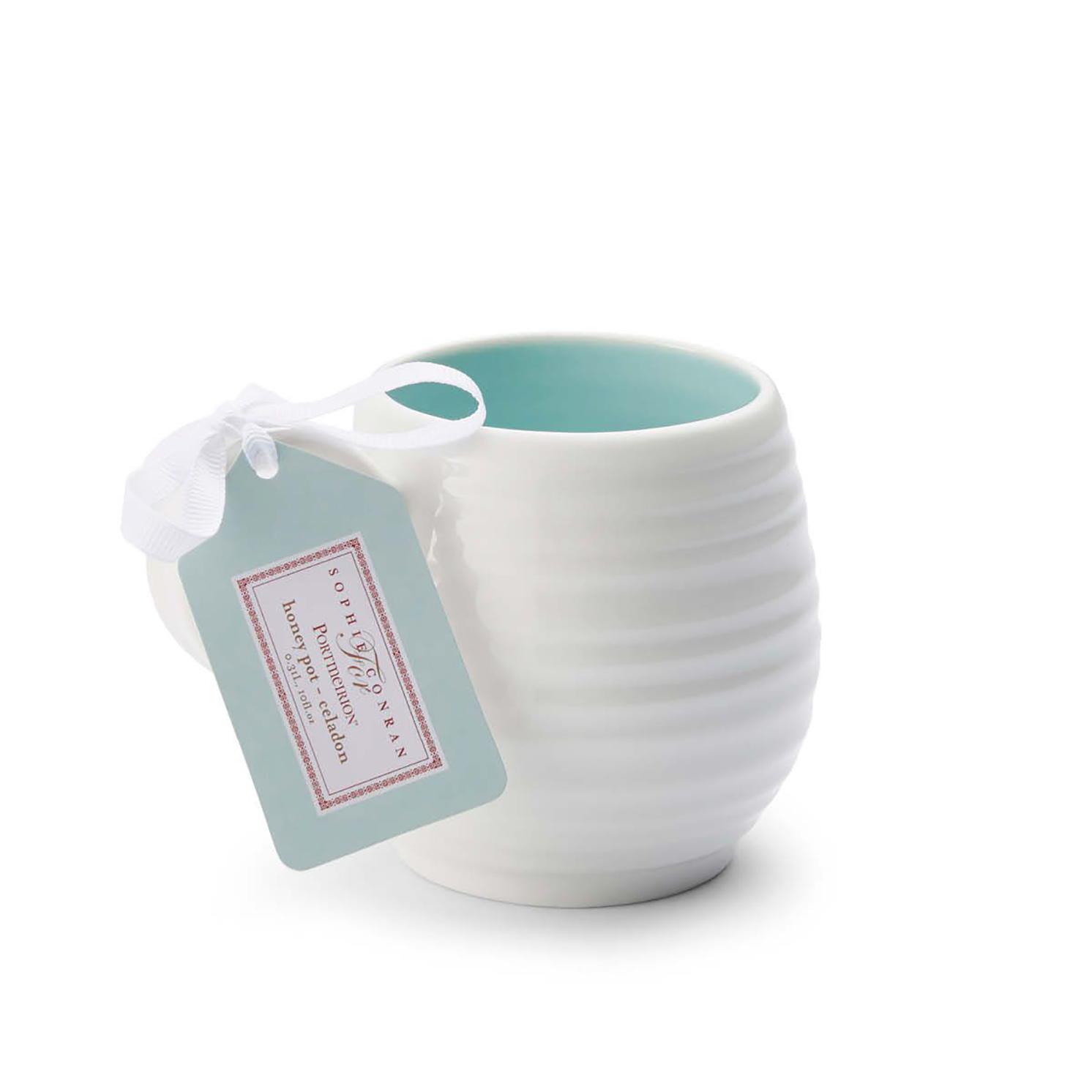 Sophie Conran for Portmeirion – Set of 4 Honey Pot Celadon Barrel Mugs in Box