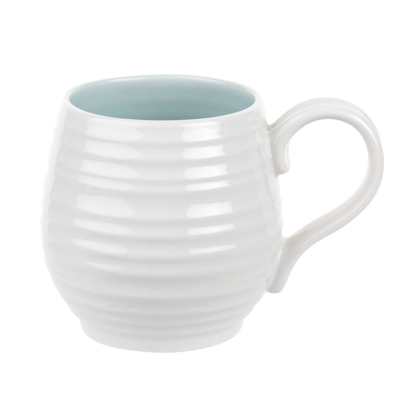 Sophie Conran for Portmeirion – Set of 4 Honey Pot Celadon Barrel Mugs in Box