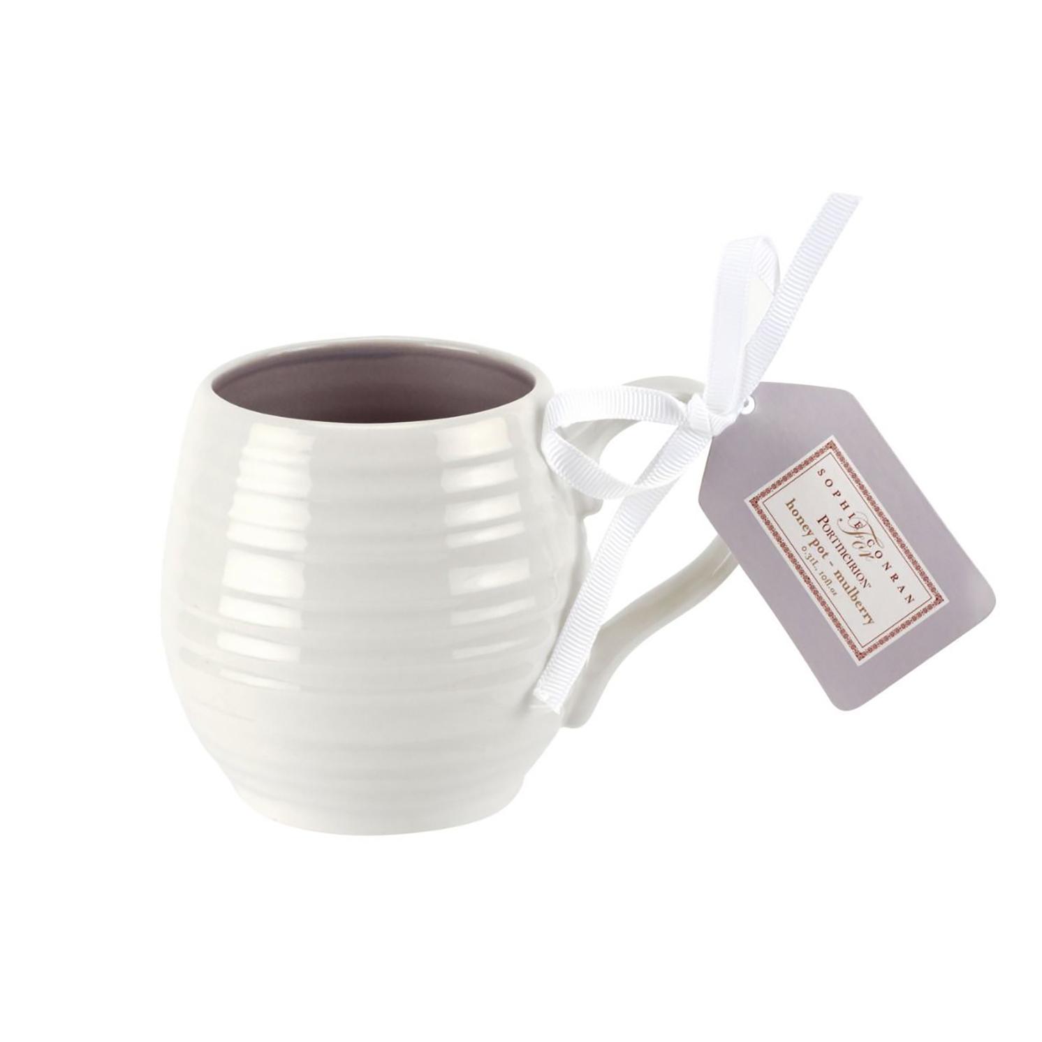 Sophie Conran for Portmeirion – Set of 4 Honey Pot Mulberry Barrel Mugs in Box