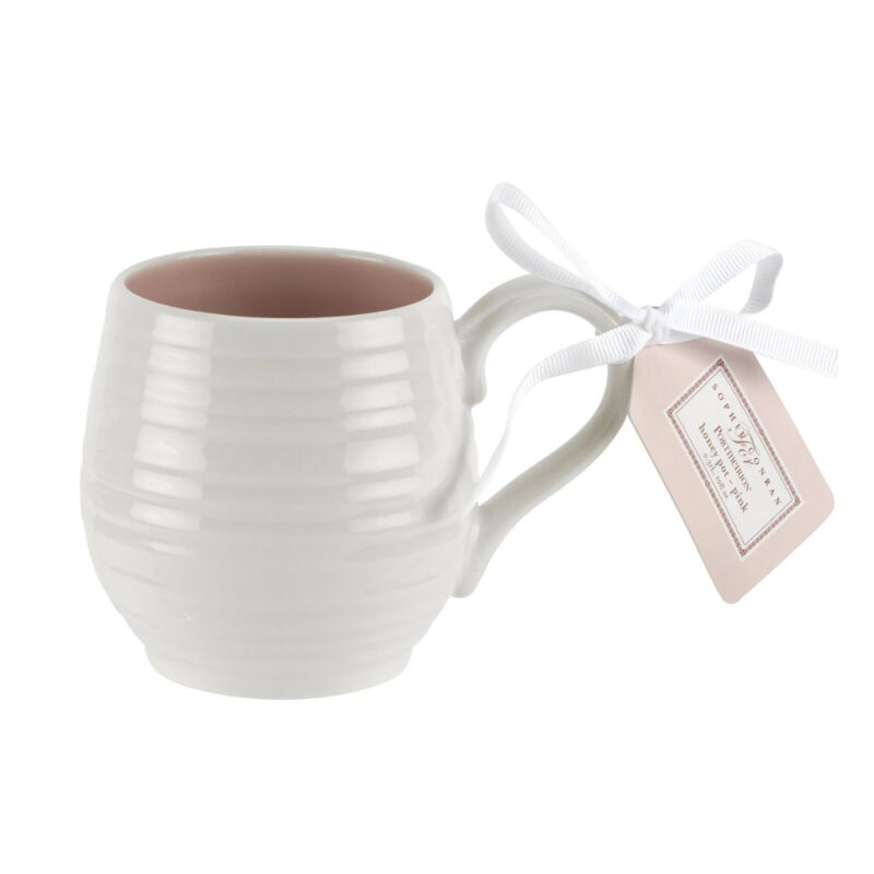 Sophie Conran for Portmeirion – Set of 4 Honey Pot Pink Barrel Mugs in Box