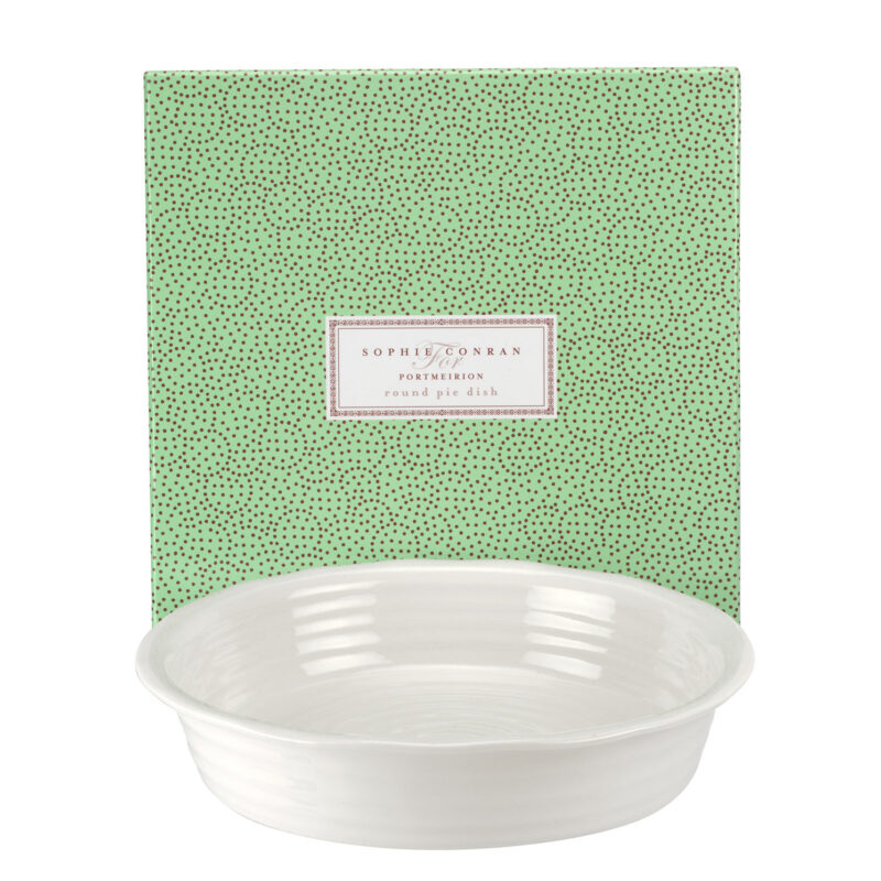 Sophie Conran for Portmeirion – White Round Pie Dish in Gift Box