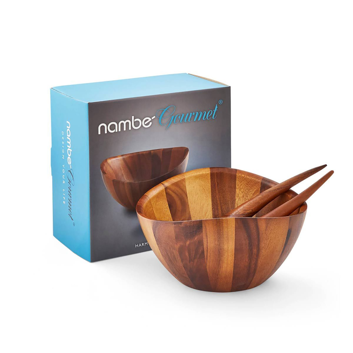 Nambe – Harmony Salad Bowl and Servers in Gift Box