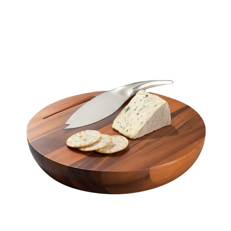 Nambe – Harmony Cheese Board with Knife in Gift Box