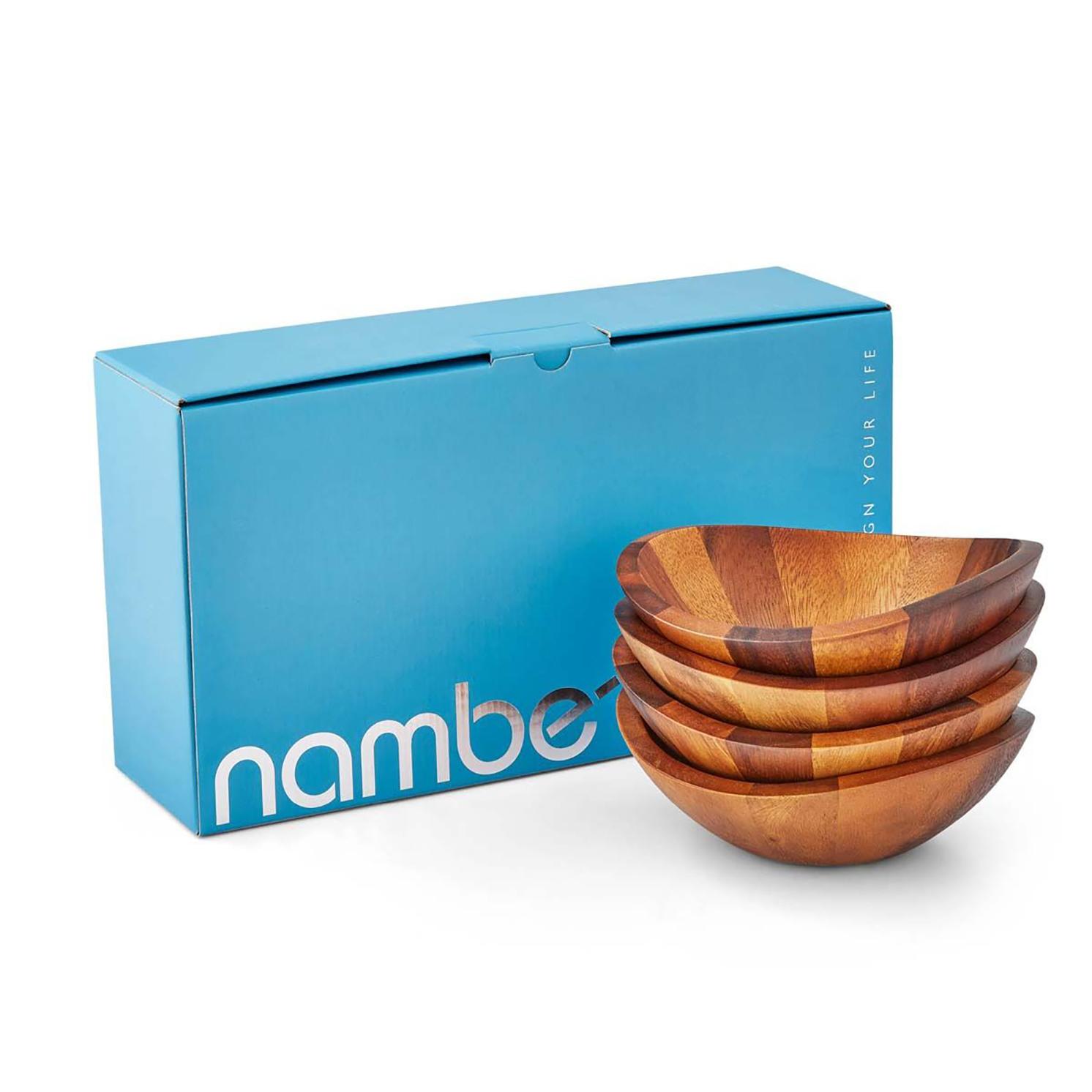 Nambe – Braid 4 Piece Salad Bowls Set in Gift Box